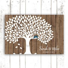 Guest Book Tree  Guest Book Alternative for by MooseberryPrintShop, $54.00