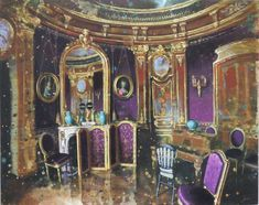 Gerard Gauci: Salon violet, Chateau de Chantilly
