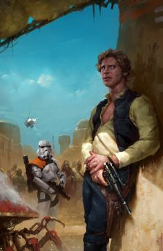Han Solo, Luke Skywalker, and Princess Leia Organa by Grant Griffin