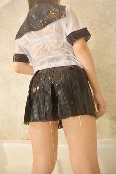 Cute Cosplay, Skater Skirt, Mini Skirts, Stockings, Legs, Womens Fashion, Plastic, Image, Bonito