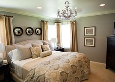 Chandelier Magen-Master-Bedroom-Makeover-After-A-Well-Dressed-Home