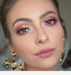 3 Looks using Anastasia Beverlyhills Modern Renaissance Palette. Tutorial up o 3 Looks using Anastasia Beverlyhills Modern Renaissance Palette. Tutorial up o. Pink Eye Makeup, Pink Eyeshadow, Glam Makeup, Makeup Inspo, Bridal Makeup, Makeup Tips, Makeup Ideas, Peach Makeup Look, Hair Makeup