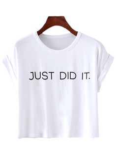 Shop White Short Sleeve Letters Print T-shirt online. SheIn offers White Short Sleeve Letters Print T-shirt & more to fit your fashionable needs.