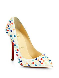 61bfe6b16aa Christian Louboutin - Pigalle 120 Multicolor Spiked Leather Pumps Christian  Louboutin Heels