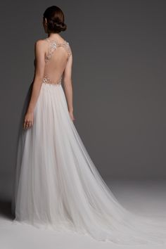 Main Image - Watters Wessex Beaded Open Back Gown Designer Wedding Dresses, Bridal Dresses, Wedding Gowns, Bridesmaid Dresses, Open Back Gown, Bridal Separates, A Line Gown, Nordstrom, Wedding Ideas