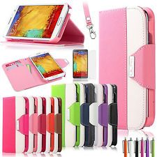 Wallet Card Stand Slot Case Cover For Samsung Galaxy Note 3 N9000