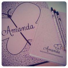15 anos - lembrancinha - caixa + caderno + lápis personalizados