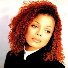 Janet Jackson's red hair back in the 90's