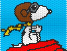 red barron snoopy cross stich | Home » Patterns » Characters » Snoopy As Red Baron Bag