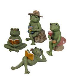 Another great find on #zulily! Book Club Frog Figurine Set by Grasslands Road #zulilyfinds