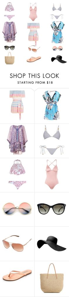 """""""Untitled #8"""" by ley1316 on Polyvore featuring Mara Hoffman, Emilio Pucci, Poupette St Barth, Melissa Odabash, Zimmermann, Eberjey, ZeroUV, Miu Miu, Oakley and Tkees"""