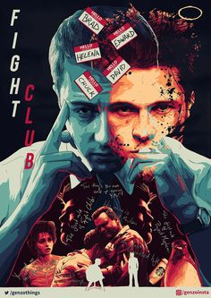 Fight Club x - MoviePosterPorn Best Movie Posters, Cinema Posters, Movie Poster Art, Fight Club 1999, Club Poster, Film Aesthetic, Alternative Movie Posters, Old Movies, Indie Movies