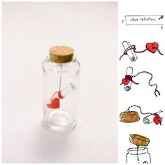 Message in a Bottle | 40 Unconventional DIY Valentine's Day Cards