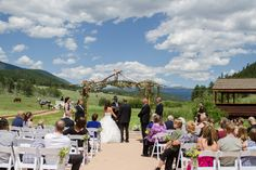 Perfect day for a mountain wedding