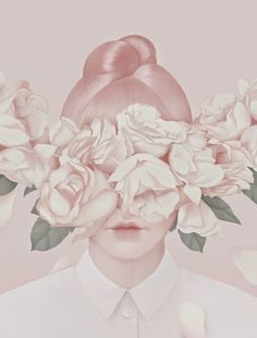 I just love this beautiful tender portraits combining soft pastel colors with nature elements...