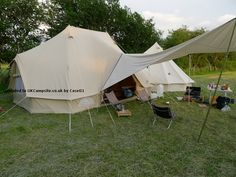 This is roughly how our set up will look. Our circular bell tent will be much bigger and there will be a marquee set up on the other side of it that will house our kitchen.