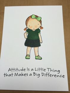 Attitude girl, my Favorite Things stamp; Spectrum Noir pens. Went a little too dark on this one.