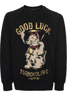 Turbokolor Lucky-Cat - titus-shop.com  #Sweatshirt #MenClothing #titus #titusskateshop