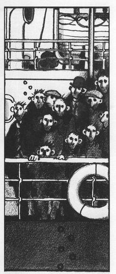 Voyage au bout de la nuit (L.F. Celine) - illustré par Tardi (Futuropolis/Gallimard 1988)