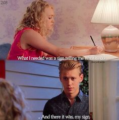 The Carrie Diaries. She read the sign wrong. You are supposed to be with Sebastian!!!