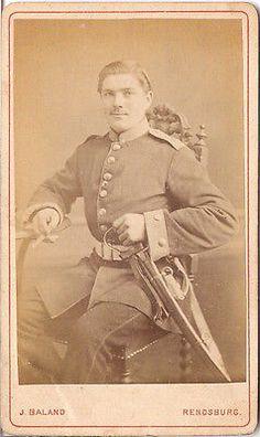 CDV photo Soldat - Rendsburg 1870er