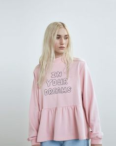 Lazy Oaf In Your Dreams Sweatshirt / Loose peplum . @lokyeeszeto