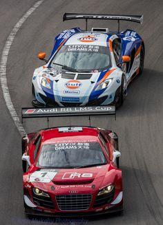Macau GP 2013 - City of Dreams GT Race - Audi R8, 1 & McLaren MP4-12C...