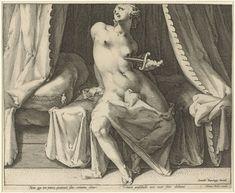 Dood van Lucretia, Jan Harmensz. Muller, 1590 - 1594