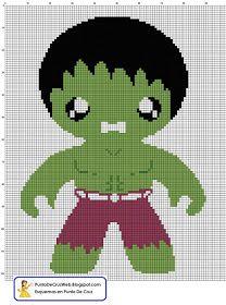 Punto De Cruz: Super Heroe Hulk