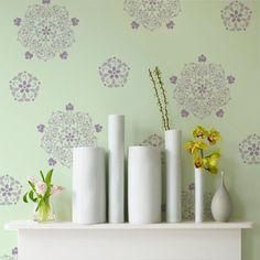 Wall Stencils | Floral Medallion Set A | Royal Design Studio
