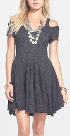 Free People #grey skater dress http://rstyle.me/n/mfrsmr9te