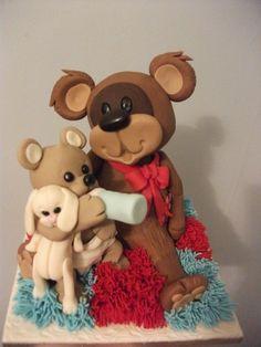 teddy feeds teddy By sayersl on CakeCentral.com