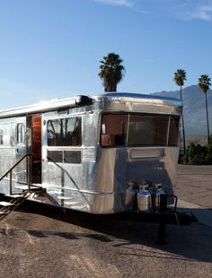 Jane Hallworth in Los Angeles, 1955 Spartan Aluminum Trailer
