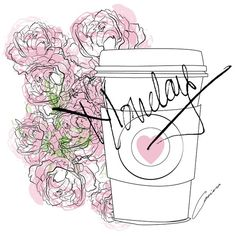 """""""May your coffee be strong and your Monday short"""" #supergirl #art #artist #coffee #draw #desire #drawing #digitalart #fashion #flower #fashionsketch #fashionillustrator #fashionillustration #heart #illustrator #illustration #instafashion #love #pink #peonies #sketch #monday #sketchbook #trendyillustrations #trendyfashionillustrations #work"""
