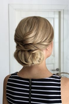 Twisted low bun - I'd rather hair you now   Lily.fi