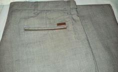 Zara Mens Gray Glen Plaid Casual Slim Fit Pants 36 x 36