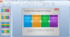 Free Simple Step Diagram for PowerPoint