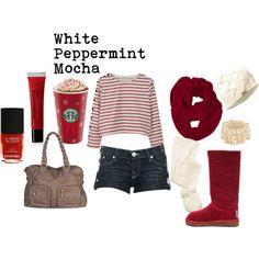 """White Peppermint Mocha"" by macbarbie07 on Polyvore"