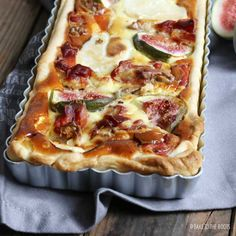Goat Cheese Quiche with Serrano and Figs