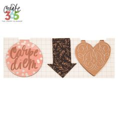 Rose Gold Create 365 Happy Planner Magnetic Page Clips