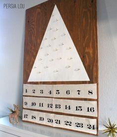 Modern Tree Advent Calendar: Handmade Holiday Kick-off by Persia Lou
