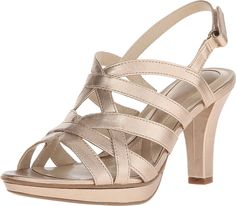 8096000b9f83 Naturalizer Women s Delma Champagne Sandal 7 M (B)   Hurry! Check out this  great product   Naturalizer sandals. Naturalizer ShoesWrap HeelsHeeled ...