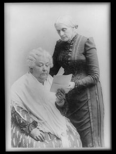 """(photo: Saybook) 1868 Elizabeth Cady Stanton and Susan B. Anthony published the women's suffrage newspaper """"Revolution"""" in New York (NWHM)."""