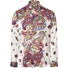 Divine Paisley @ETRO Sky/Red Multi Color  Shirt found on Polyvore