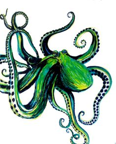 Octopus art print.. since we are into octopus. :)