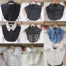 Inventive 6 Styles Women Half Shirt Fake Collar Plaid Pattern Detachable Blouse Tops Lapel Collar Women's Clothing