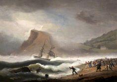 Shipwreck at Teignmouth, Devon, 1825 - Thomas Luny