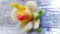 Unique Flowers, Needle Felting, Free Delivery, Maya, Ireland, Brooch, Gifts, Handmade, Etsy