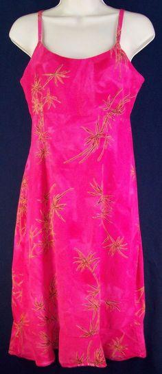 HAWAIIAN MOON Aloha Spaghetti Strap Sun Dress Size Small Handcrafted in Hawaii #Hawaiian #BeachDressSundress #Casual