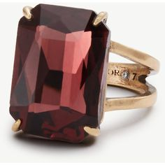 Ann Taylor Crystal Statement Ring ($30) ❤ liked on Polyvore featuring jewelry, rings, malbec, ann taylor, cocktail rings, crystal jewellery, sparkle jewelry and crystal jewelry